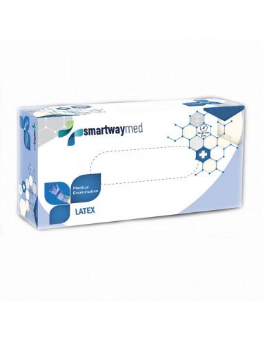 Γάντια Latex Smartwaymed 100τμχ Μπλε